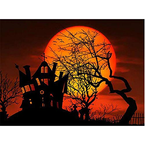 Adults Wooden Jigsaw Puzzle 1000 Pieces Halloween Scenery Moon Children Leisure Creative Puzzle Games Art Toys Puzzles