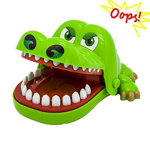 Oun Nana Crocodile Toy Dentist (4.92 X 3.94 X 2.56 in) Crocodile Biting Finger Game Funny Toys for Kids 1 to 4 Players - Ages 4 and Up