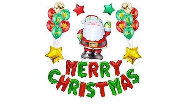 Twocc-Navidad, Feliz Navidad Decoración Colgante Santa Balloons ...