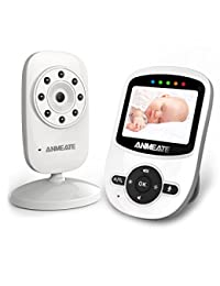 Video Baby Monitor with Digital Camera, ANMEATE Digital 2.4Ghz Wireless Video Monitor with Temperature Monitor, 960ft Transmission Range, 2-Way Talk, Night Vision, High Capacity Battery BOBEBE Online Baby Store From New York to Miami and Los Angeles