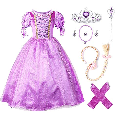 TTMOW Girls Princess Party Dress Costume Halloween Costume with Accessories]()