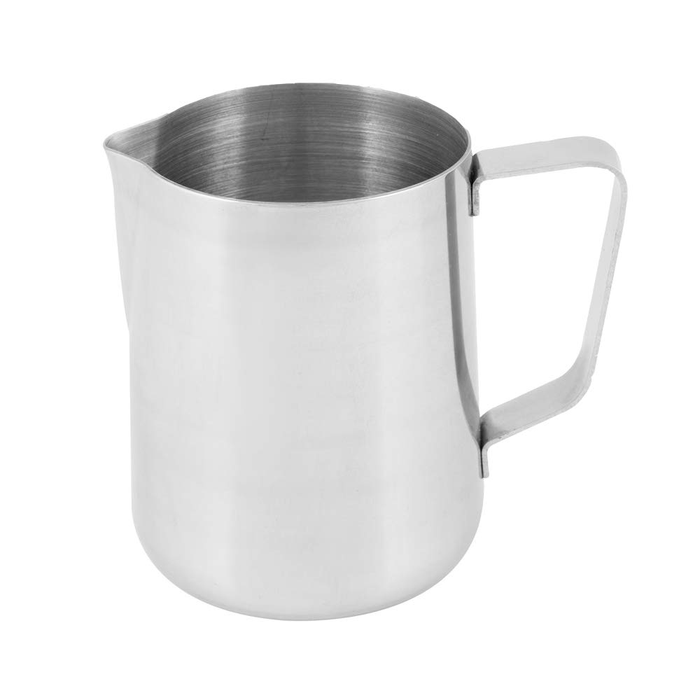 1 Quart Milk Frothing Pitcher, 32-Ounce / 1 Liter. Large Milk Pitcher by Tezzorio, Stainless Steel Milk Steaming Frothing Pitchers for Espresso Machines, Milk Frother/Latte Art