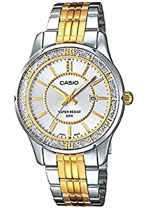 Casio Collection Round Casual Watch for Women model LTP-1358SG-7