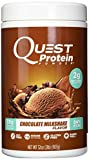 Quest Nutrition Protein Powder, Chocolate Milkshake, 23g Protein, 2g Net Carbs, 84% P/Cals, 2lb Tub, High Protein, Low Carb, Gluten Free, Soy Free, Packaging May Vary