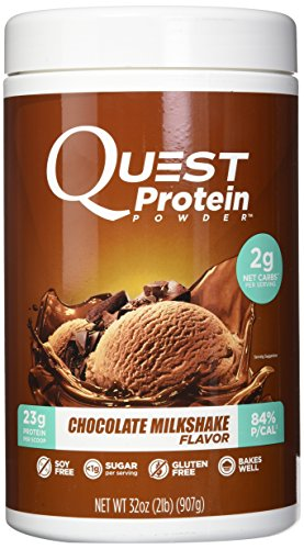 Quest Nutrition Protein Powder – Soy Free, Gluten Free, Sugar-Free Chocolate Milkshake with 23g Protein, 2g Net Carbs. Health and Diet Supplement
