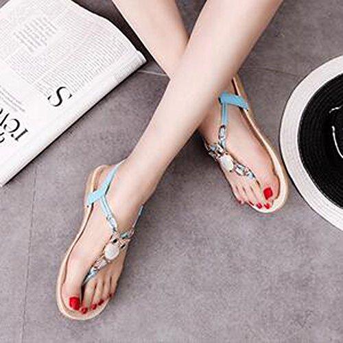SUNAVY - Zapatos con tacón Mujer Azul
