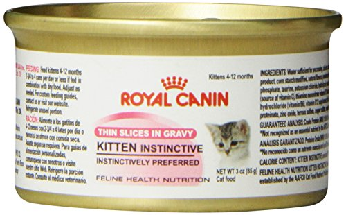 Royal Canin Canned Cat Food Kitten Instinctive (Pack of 24 3-Ounce Cans)
