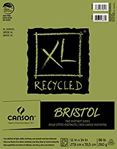 """Canson XL Series Recycled Bristol Pad, 11""""x14"""" Fold Over Bound"""