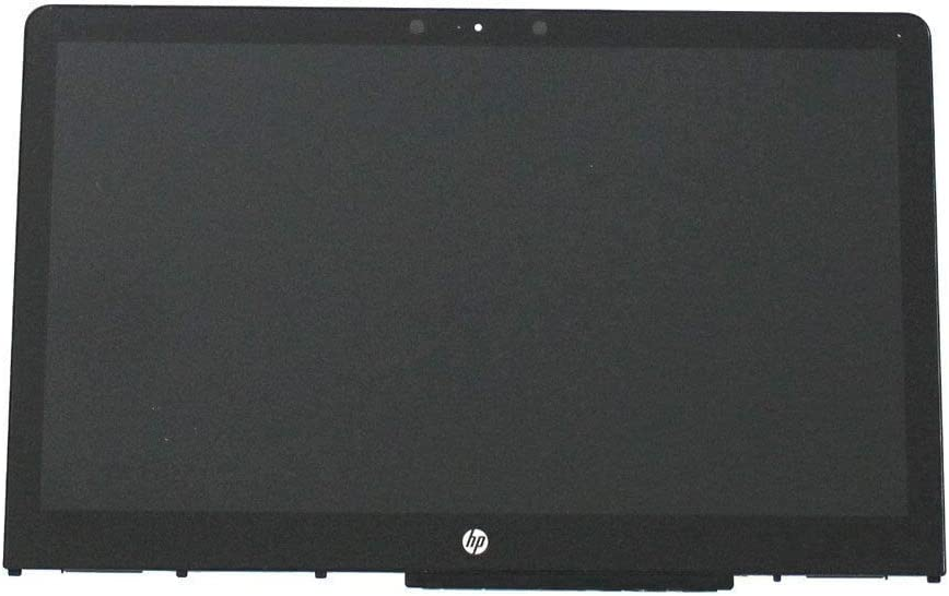 Screen Expert 15.6'' HD 1366x768 LCD Panel Anti-Glare LED Screen Display with Touch Digitizer and Bezel Frame Assembly for HP Pavilion X360 15-BR0XX 15-BR005LA 15-BR102TX 15-BR101LA P/N: 924531-001