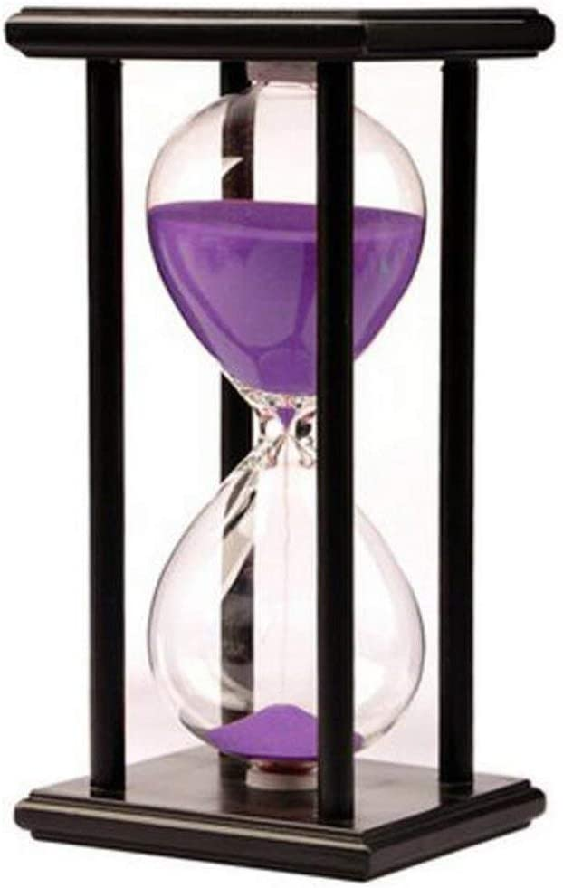 Hourglass Timer for 60 Minutes Sandglass Timer for Kitchen Living Room Home Office Desk Bedroom Party Festival Coffee Table Book Shelf School Game Sand Timer Sandglass Timer