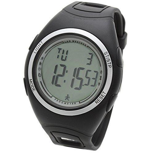 [Lad Weather] 3D Schrittzähler Alarm Stoppuhr Trainingszeit Übung Kilometerzähler Wandern Laufen Kalorie Sport Damen Herren uhren Armbanduhren