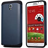 AnoKe? Armor Note 3 Neo LTE N7505 Armor dual layer bumper case TPU PC hybrid protective case for Samsung Galaxy Note 3 Neo LTE N7505 (Armor Metal Slate)