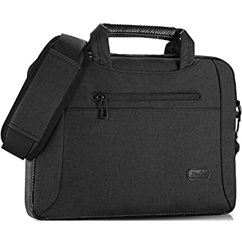 "ProCase 13 - 13.5 Inch Laptop Bag Messenger Shoulder Bag Briefcase Sleeve Case for 13"" Macbook Pro Air Surface Book, 12 13 Inch Laptop Ultrabook Notebook MacBook Chromebook Computer -Black"