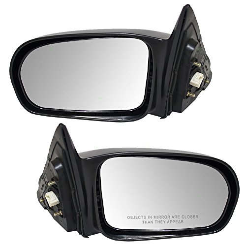 Driver and Passenger Power Side View Mirrors Ready-to-Paint Replacement for Honda Sedan 76250-S5D-A11 76200-S5D-A11 ()