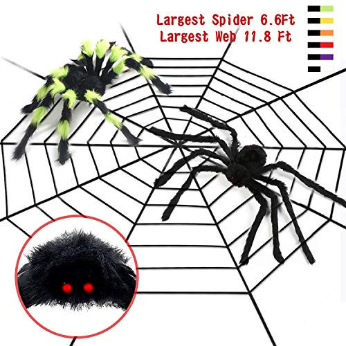 Halloween Spider Large Plush Spider Crops Spider Web Decor Haunted House Spooky Toys for Halloween Decorations -