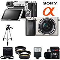 Sony Alpha a6000 ILCE6000 Interchangeable Lens Camera with 16-50mm Power Zoom Lens (Silver) + Pixi-Basic Accessory Bundle Key Pieces Review Image