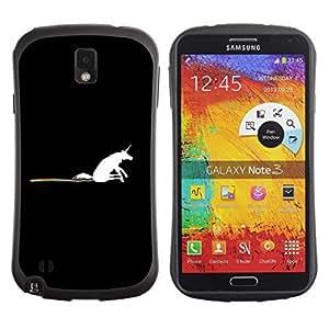 Hybrid Anti-Shock Bumper Case for Samsung Galaxy Note 3 / Unicorn Rainbow