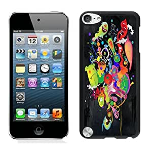 Fashionable And Unique Designed With Ultraviolet Cover Case For iPod Touch 5th Black Phone Case CR-670