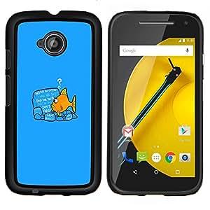 """Be-Star Único Patrón Plástico Duro Fundas Cover Cubre Hard Case Cover Para Motorola Moto E2 / E(2nd gen)( Divertido Goldfish Fish"""" )"""