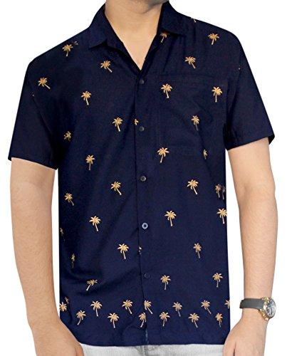 LA LEELA Men's Aloha Hawaiian Shirt Short Sleeve Button Down Casual Beach Party, Size : 4X | Chest Size : 64