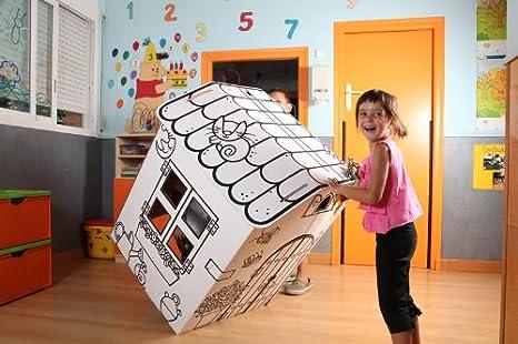 Casita de cartón para niños: Amazon.es: Juguetes y juegos