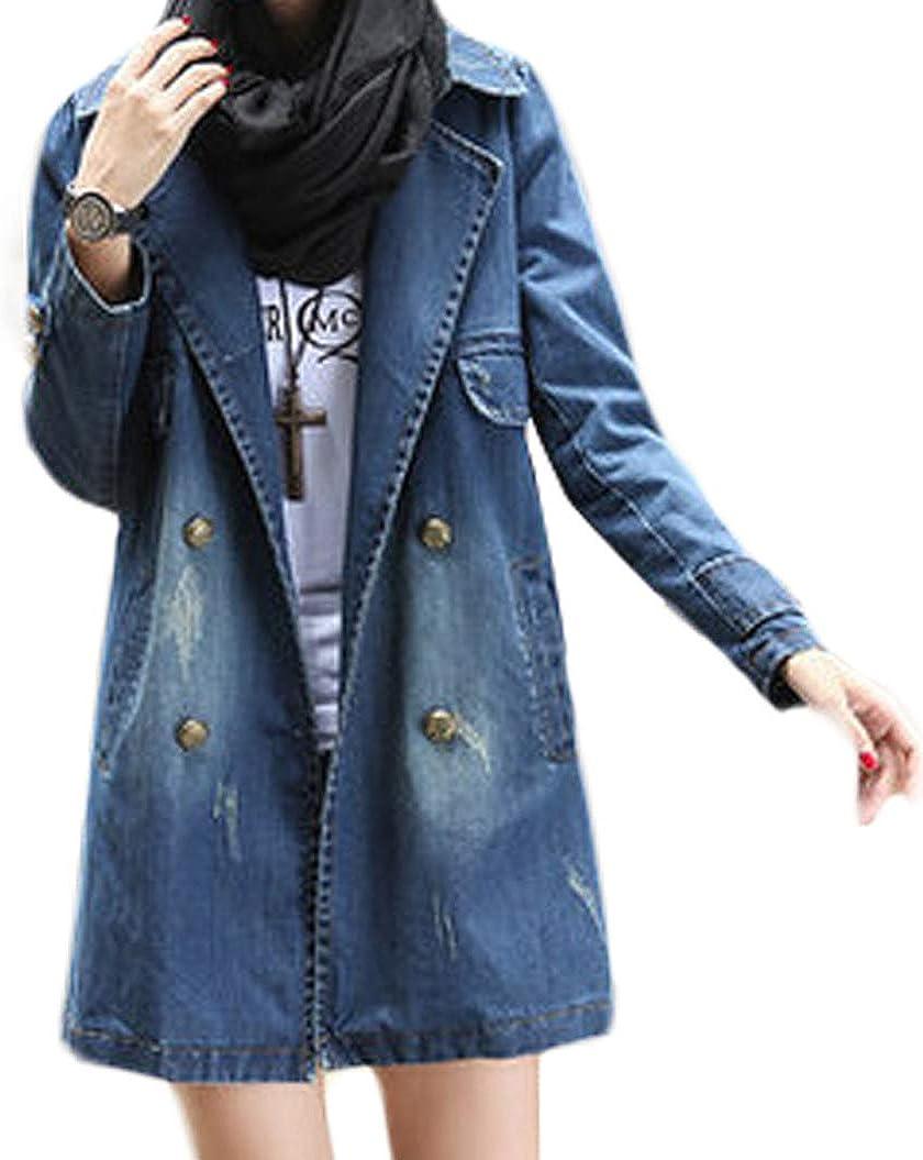 Veste en Jean pour Femme Veste dhiver Top Coats Outwear