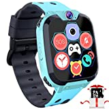 Kids Game Smart Watch Phone - 1.54' Touch Screen Game Smartwatches with [1GB Micro SD Card] Call SOS Camera 7 Games Alarm Clock Music Player Record for Children Boys Girls Birthday Gifts 3-10 (Blue)