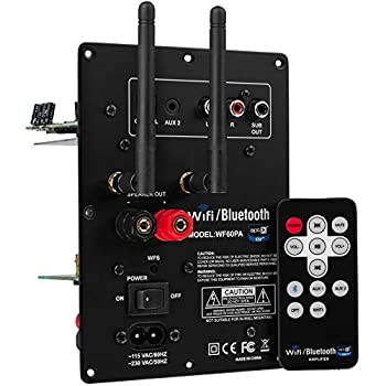 Dayton Audio WF60PA 60W Class D Full-Range 2 Channel Plate Amplifier with Wi-Fi and Bluetooth 4.0 aptX Amplifiers