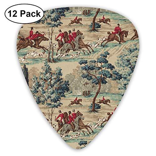 351 Shape Classic Guitar Picks Riding Horse Plectrums Instrument Standard Bass 12 Pack -
