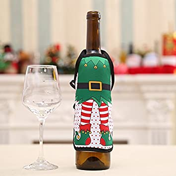 mini christmas aprons christmas bottles christmas wine bottle decorations christmas decorations - Christmas Bottle Decorations