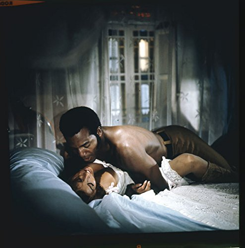 Raquel Welch Jim Brown Barechested On Bed 100 Rifles Original Photo Transparency
