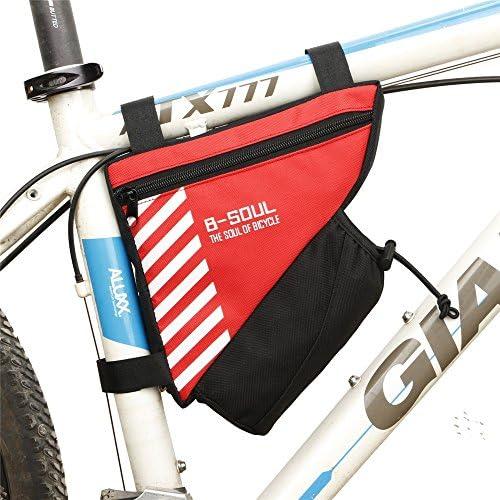 自転車フレームパッケージ 自転車サドルバッグ防雨MTBロードバイクアクセサリーシートポストバッグテールリアポーチバッグ 自転車フロント収納袋 (色 : 赤)