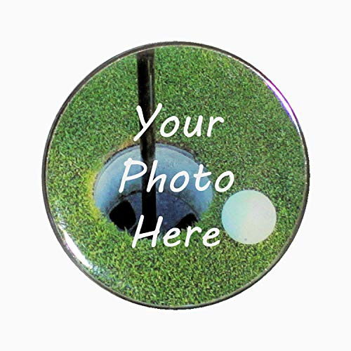 Jumbo Golf Ball Marker - Large Black Poker Chip Sized Ball Maker - Over 1.5