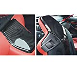 Mosion Auto for BMW F80 M3 F82 F83 M4 2014-2017 Car Inner Seat Back Trim Cover Carbon Fiber