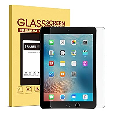 """New iPad 9.7"""" (2017) / iPad Pro 9.7 / iPad Air 2 / iPad Air Screen Protector, SPARIN Tempered Glass Screen Protector - Apple Pencil Compatible / 2.5D Round Edge / Scratch Resistant by SPARIN"""