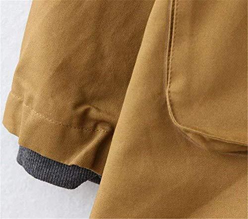 Femme Young Styles Manteau Manches Automne Manche Longues Kaki Poches Jacken Oversize Printemps Capuchon A avec Uni Capuche lgant Gaine Outerwear Coat Fermeture clair SnrScqw8zv