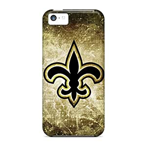 Hot Xnc1802RnBI Case Cover Protector For Iphone 5c- New Orleans Saints Rusty Look