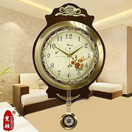 Silenciar Unión relojes antiguos Reloj de pared Reloj de latón de moda Salón grandes murales modernos