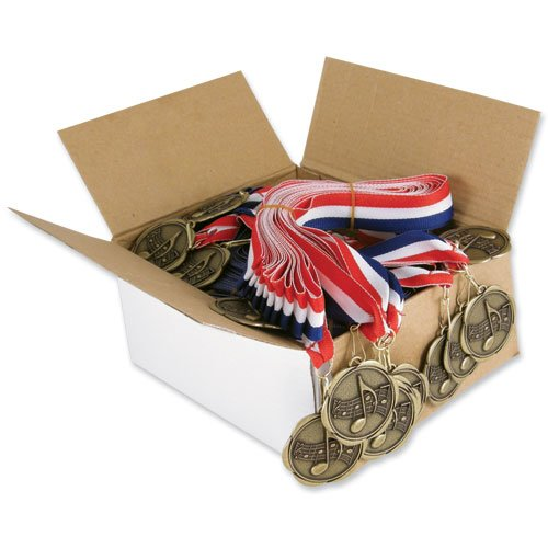 Set of 100 Award Medals with Neck Ribbons - Music