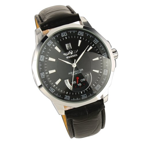 SYMTOP Cuero Negro Reloj Pulsera Manos Blancas Los Hombres Mecánicos Automáticos Hombre Caja Plata: Amazon.es: Relojes