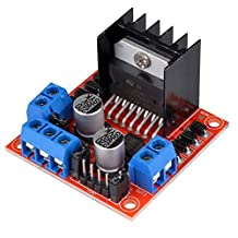 Kuman K48 L298N Motor Drive Controller Board DC Dual H-Bridge Robot Stepper Motor Control & Drives Module for Arduino Smart Car Power UNO MEGA R3 Mega2560 Duemilanove Nano Robot