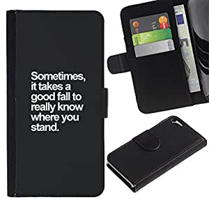 KingStore / Leather Etui en cuir / Apple Iphone 5 / 5S / Inspiré de motivation