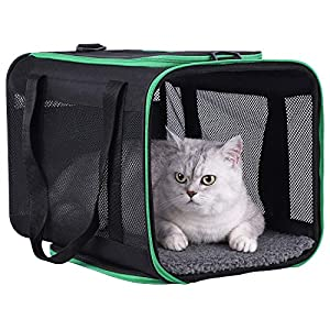 petisfam Large Cat Carrier for Large and Medium Cats and Small Dogs Offers a Comfy and Safe Way to Transport Your Fur…