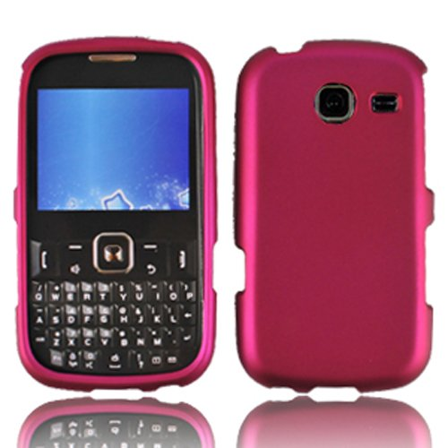 LF 3 in 1 Hard Case Cover, Stylus & Droid Screen Wiper Bundle Accessory For Tracfone Straight Talk Prepaid Cell Phone Samsung S380C (Pink) (Samsung S380c compare prices)
