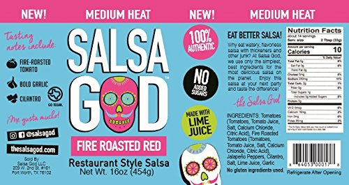 Medium Fire Roasted Red Salsa Six Pack