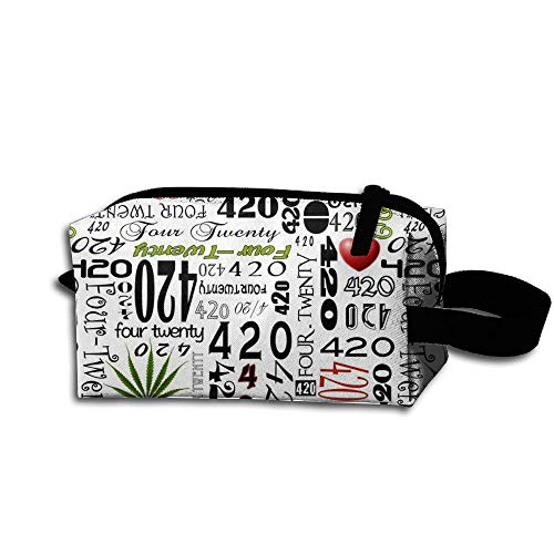Nutcr King Fong Marijuana Weed LeafNylon Pencil Case, Essentials Bag, Makeup Bag for Men/Women/Youth