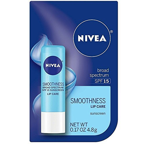 Nivea A Kiss of Smoothness Lip Care, Hydrating, SPF 4 (Pack of 3)
