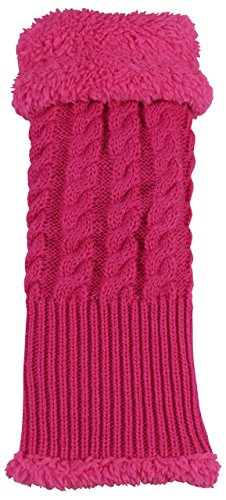 N'Ice Caps Girls Twisting Cable Knit Fashion Leg Warmers (2-3 Years, -