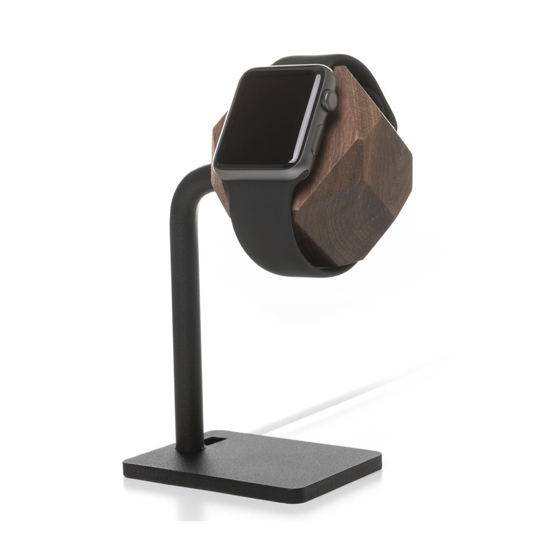 Woodcessories - Docking Station Compatible with Apple Watch Series (1, 2, 3, 4) of Real Wood, EcoDock Watch EDT. (Walnut) by Woodcessories
