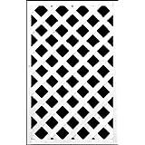 ホワイト格子ラティスフェンス 900×600mm(木製) 目隠しフェンス DIY 園芸 ガーデニング 旭興進株式会社 JJ PROHOME